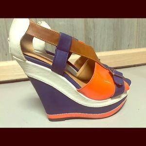 Qupid size 6 1/2 wedge heels